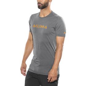 Aclima M's LightWool LOGO T-Shirt iron gate